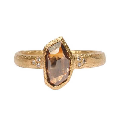 SOLD 18ct Yellow Gold 'One-Of-Kind' Ring with 0.98ct Bronze Shard Diamond