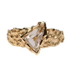 18ct Yellow Gold 'One-Of-Kind' Ring with 0.92ct White Shard Diamond