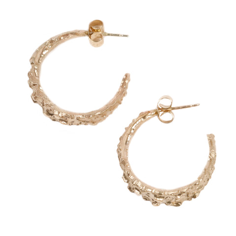 Fair Mind 9ct Yellow Gold Molten Ear Hoops