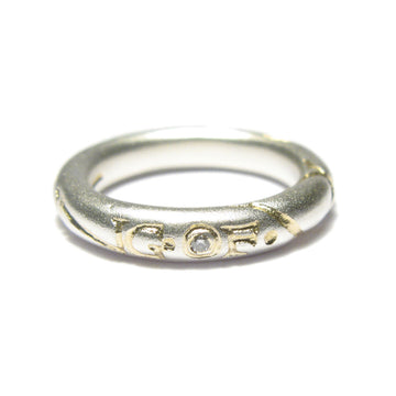 Diana Porter etched feeling of we silver gold ring
