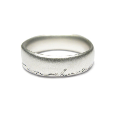 Silver Undulating 'on and on' Ring