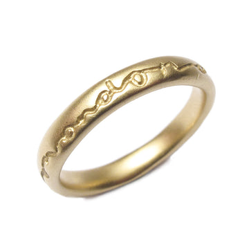 Diana Porter etched yellow gold on and on wedding ring