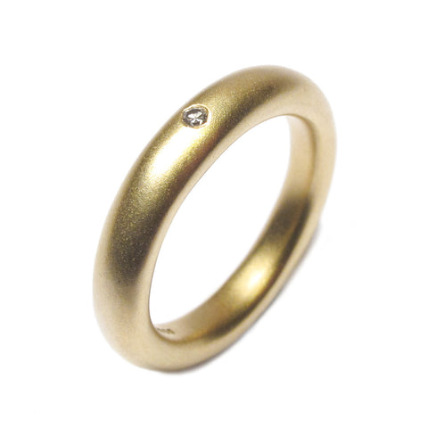 Rounded 18ct Yellow Gold and Diamond Ring