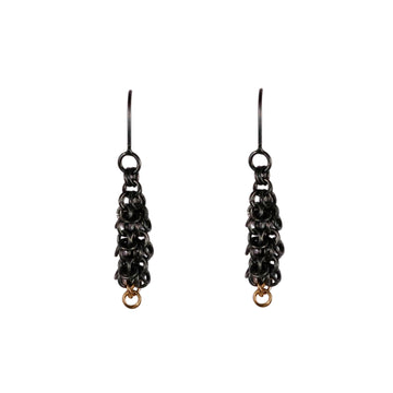 Alison Evans oxidised silver chain earrings