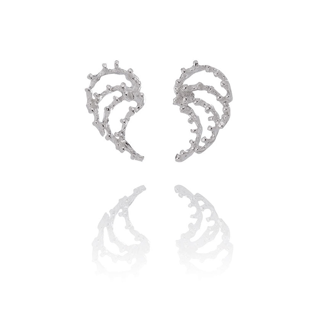 Aurum Asterias Silver Earrings