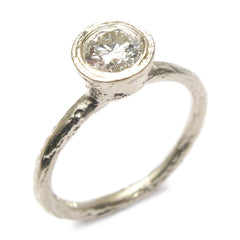 18ct White Gold and 0.5ct Brilliant Cut Diamond Ring