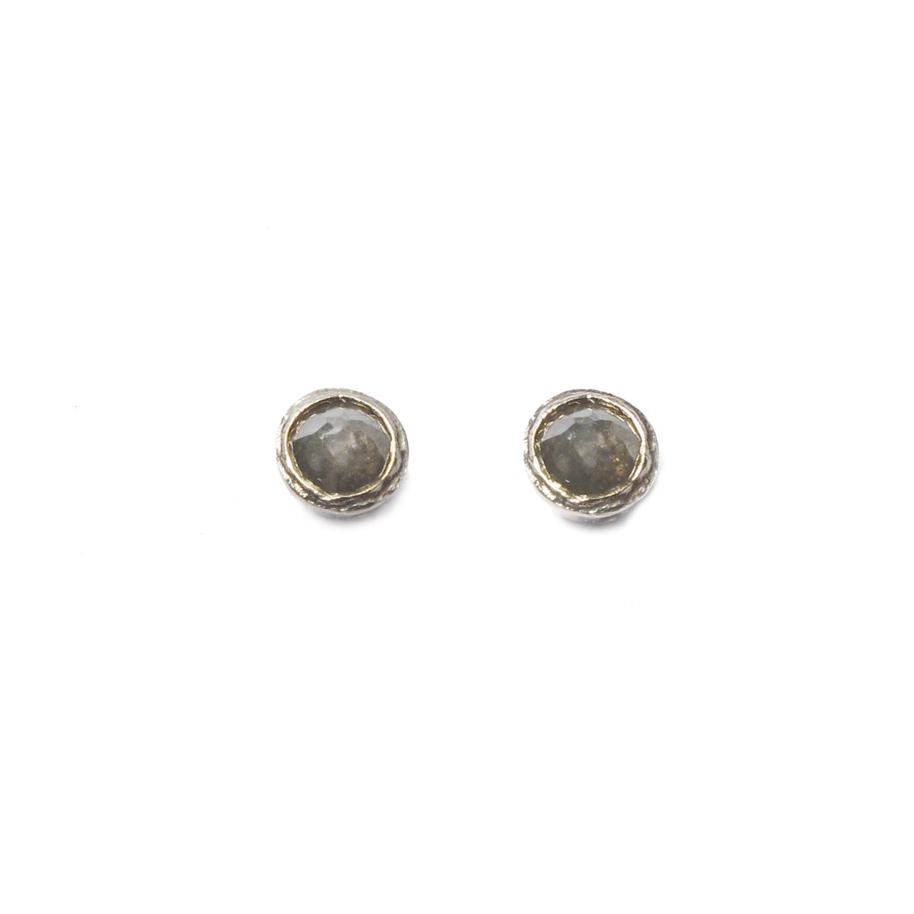 Diana Porter Jewellery modern rose cut diamond white gold studs