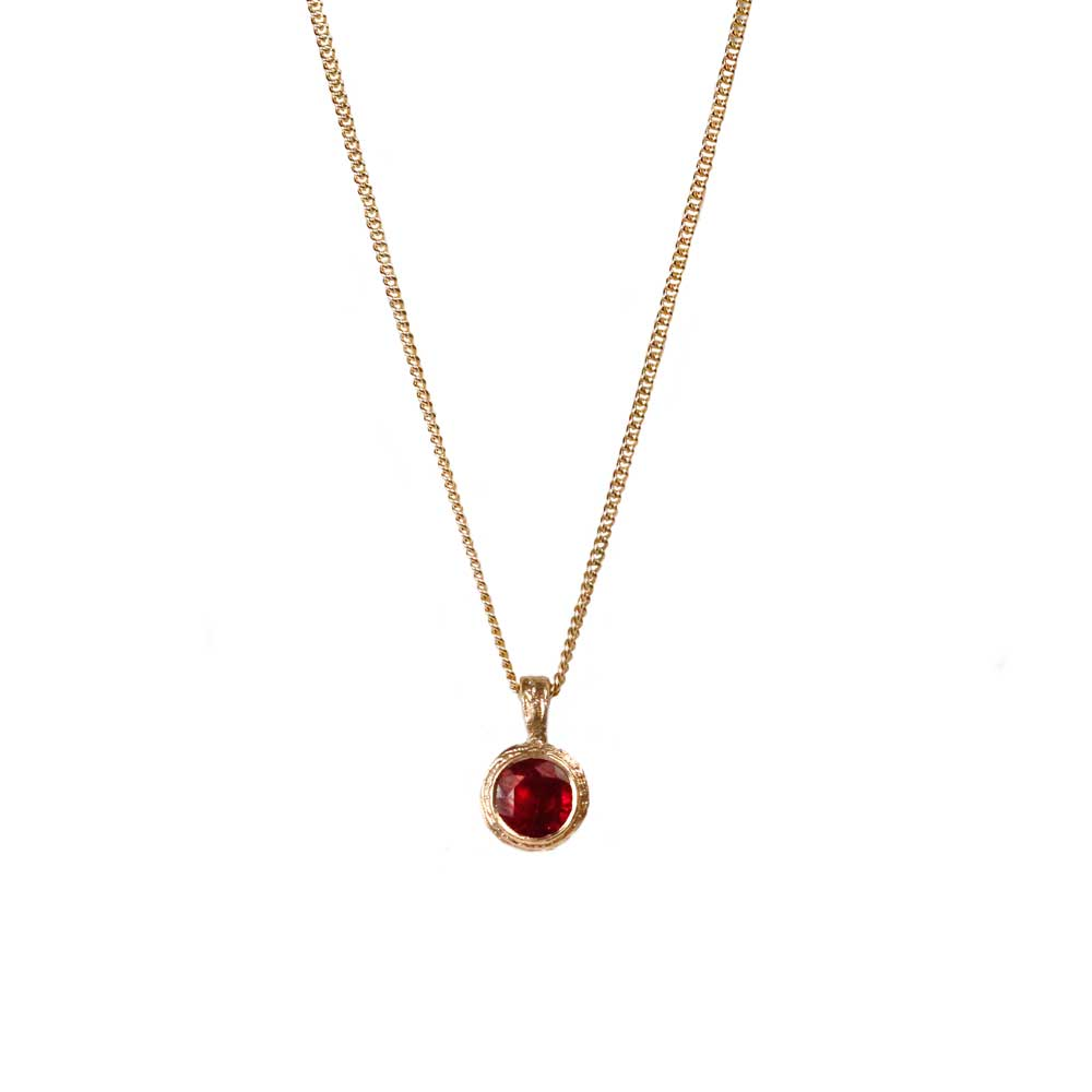 Ruby and 9ct Yellow Gold Pendant
