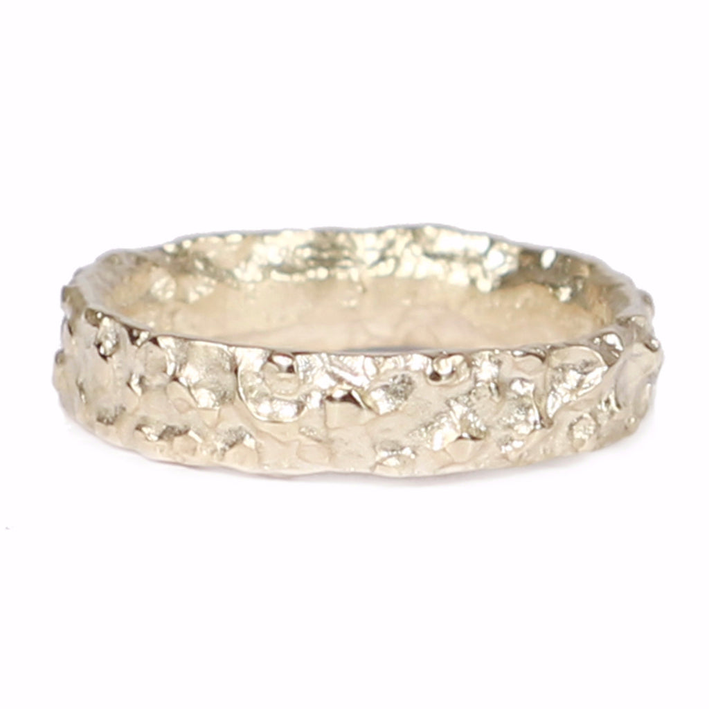 Diana Porter Contemporary Jewellery modern yellow gold textured wedding band