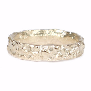 Diana Porter Contemporary Jewellery modern fairtrade yellow gold textured wedding band