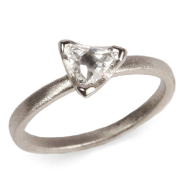 Platinum Ring with Free Form Diamond