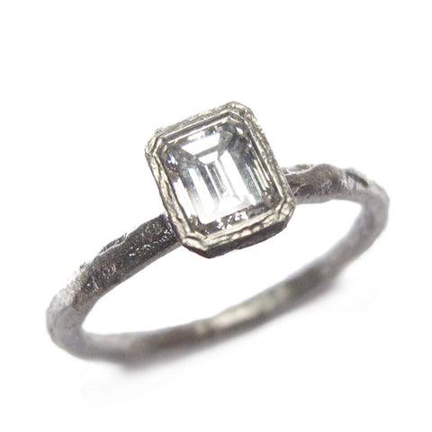 0.60ct Emerald Cut Diamond and Platinum Ring