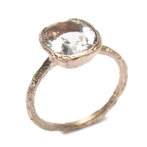 Cushion Cut Morganite and 9ct Rose Gold Ring