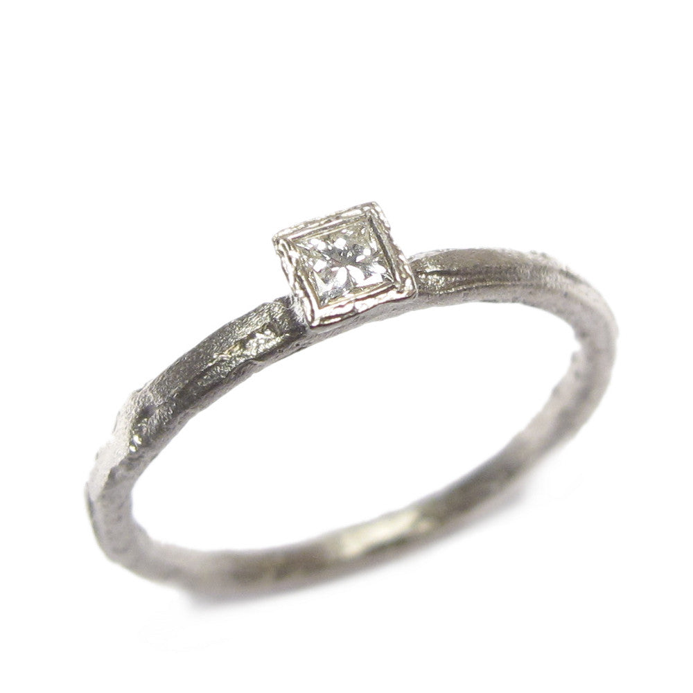 Diana Porter Jewellery modern princess cut diamond white gold engagement ring