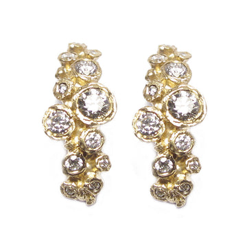 Diana Porter Jewellery statement yellow gold diamond earrings