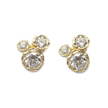 Diana Porter Jewellery contemporary yellow gold diamond earrings