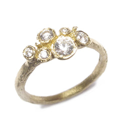 Diana Porter Jewellery modern diamond and yellow gold engagement ring