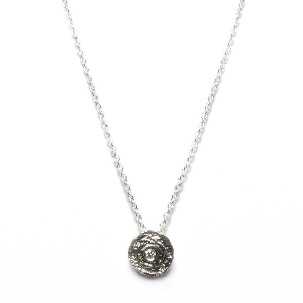 Diana Porter Jewellery unique silver and diamond pendant necklace