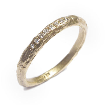 Diana Porter Jewellery contemporary yellow gold eternity wedding ring