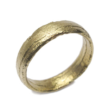 Diana Porter Jewellery unique green gold wedding ring