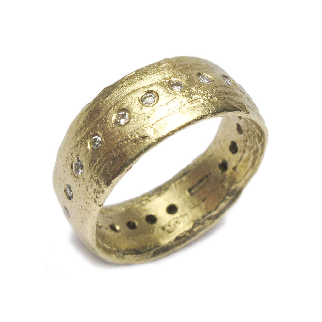 Diana Porter Jewellery contemporary green gold eternity ring