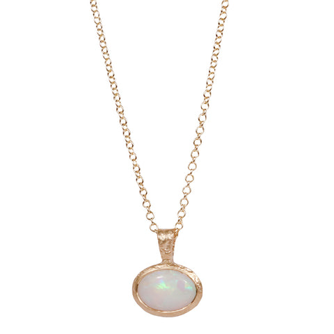 White opal 9ct Gold Pendant