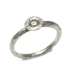 Diana Porter Jewellery contemporary diamond platinum engagement ring