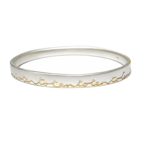Bespoke - Silver Bangle Etched with Personalised Words