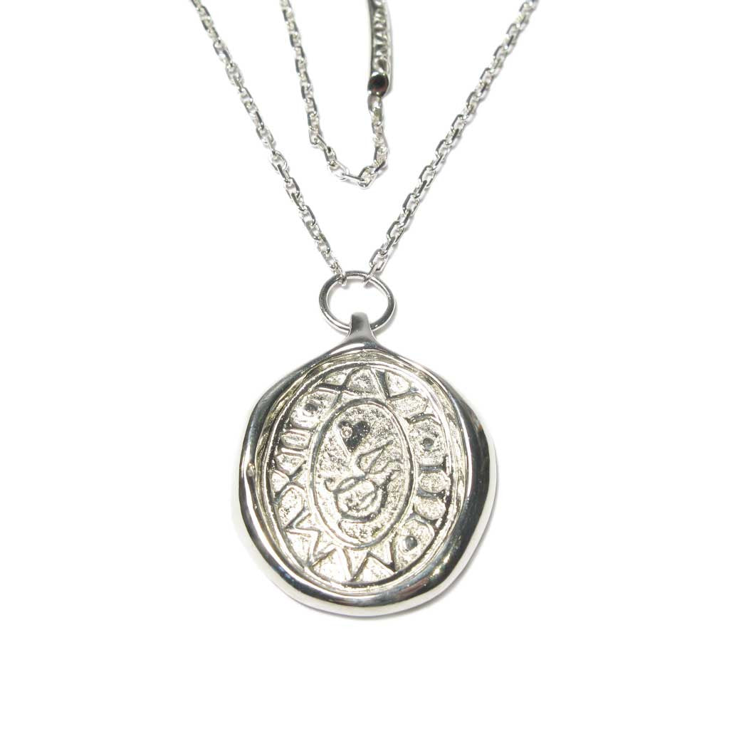 Diana Porter Jewellery Bespoke Commission etched silver pendant necklace