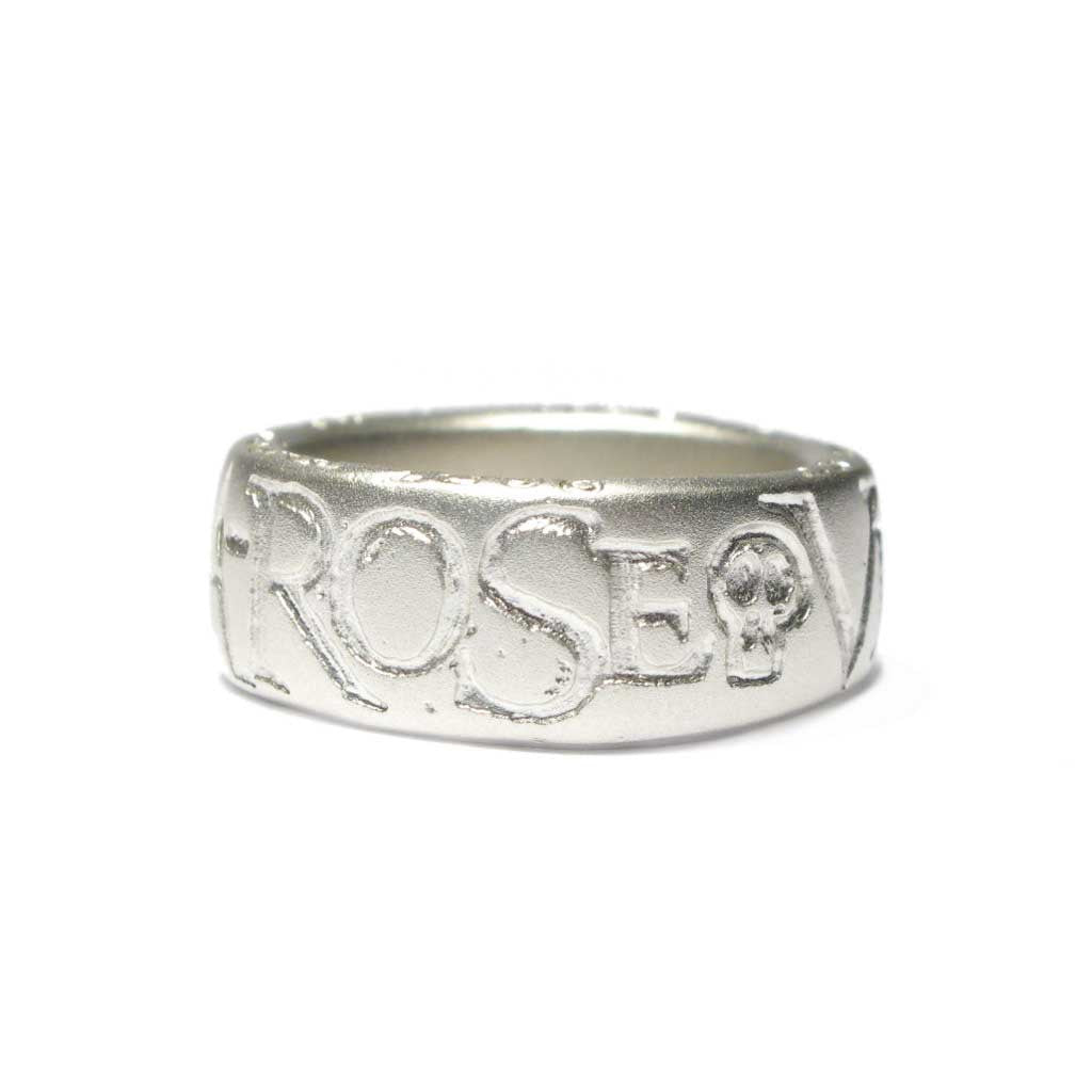 Diana Porter Jewellery bespoke commission etched silver ring