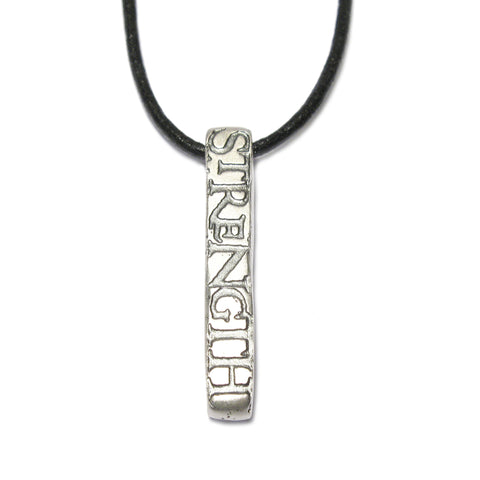 Bespoke - Silver Pendant Etched with Oxidised Personalised Words