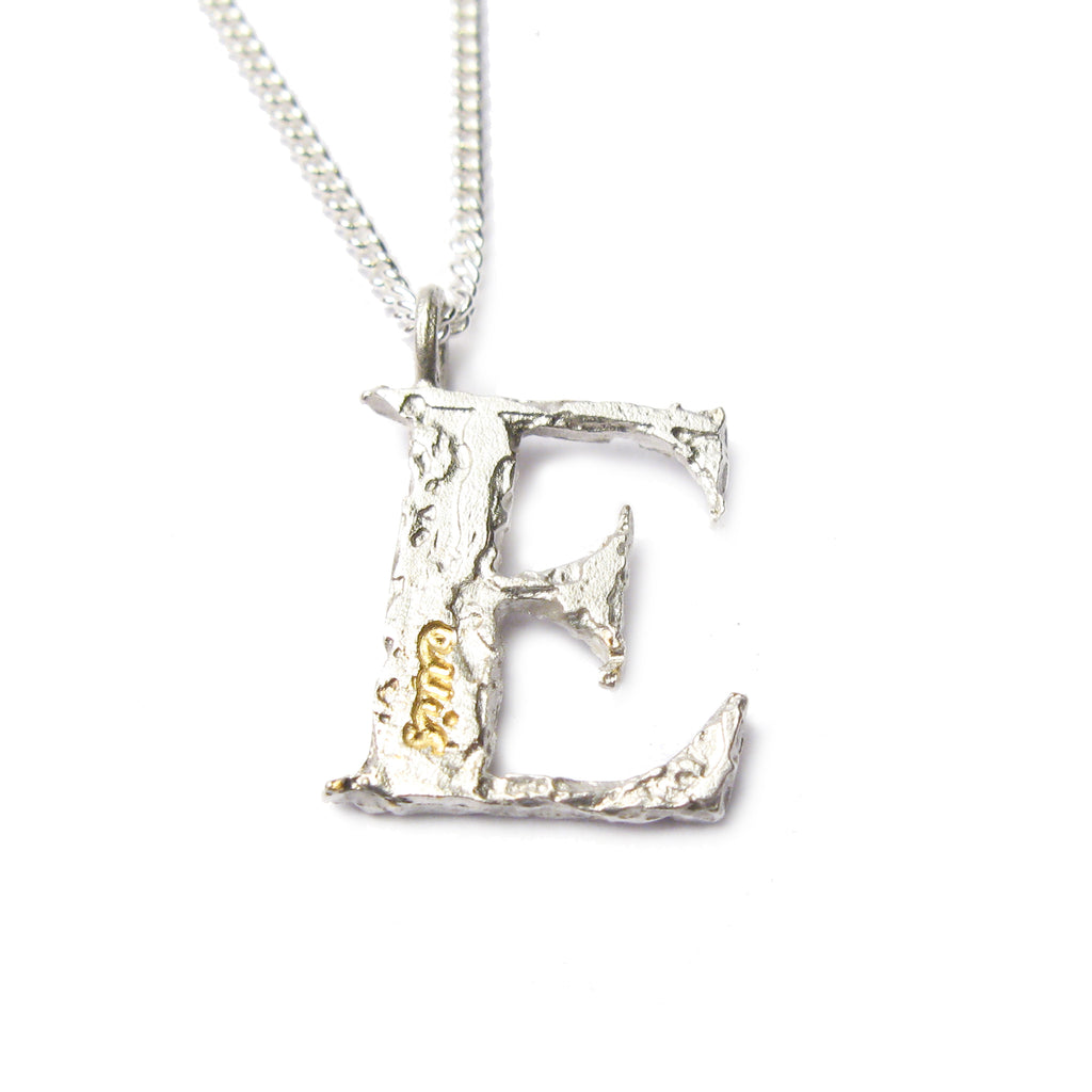 Bespoke -  Silver Letter Charm, Etched with Personalised Words