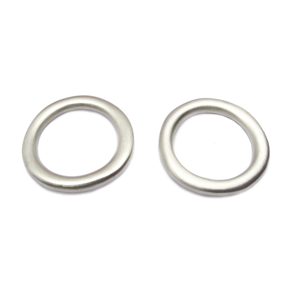 Diana Porter Jewellery contemporary large silver hoop studs