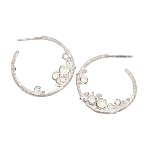 Silver 'Emerge' Hoop Earrings