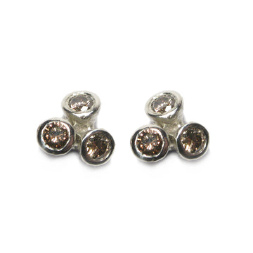 Diana Porter Jewellery contemporary brown diamond earrings