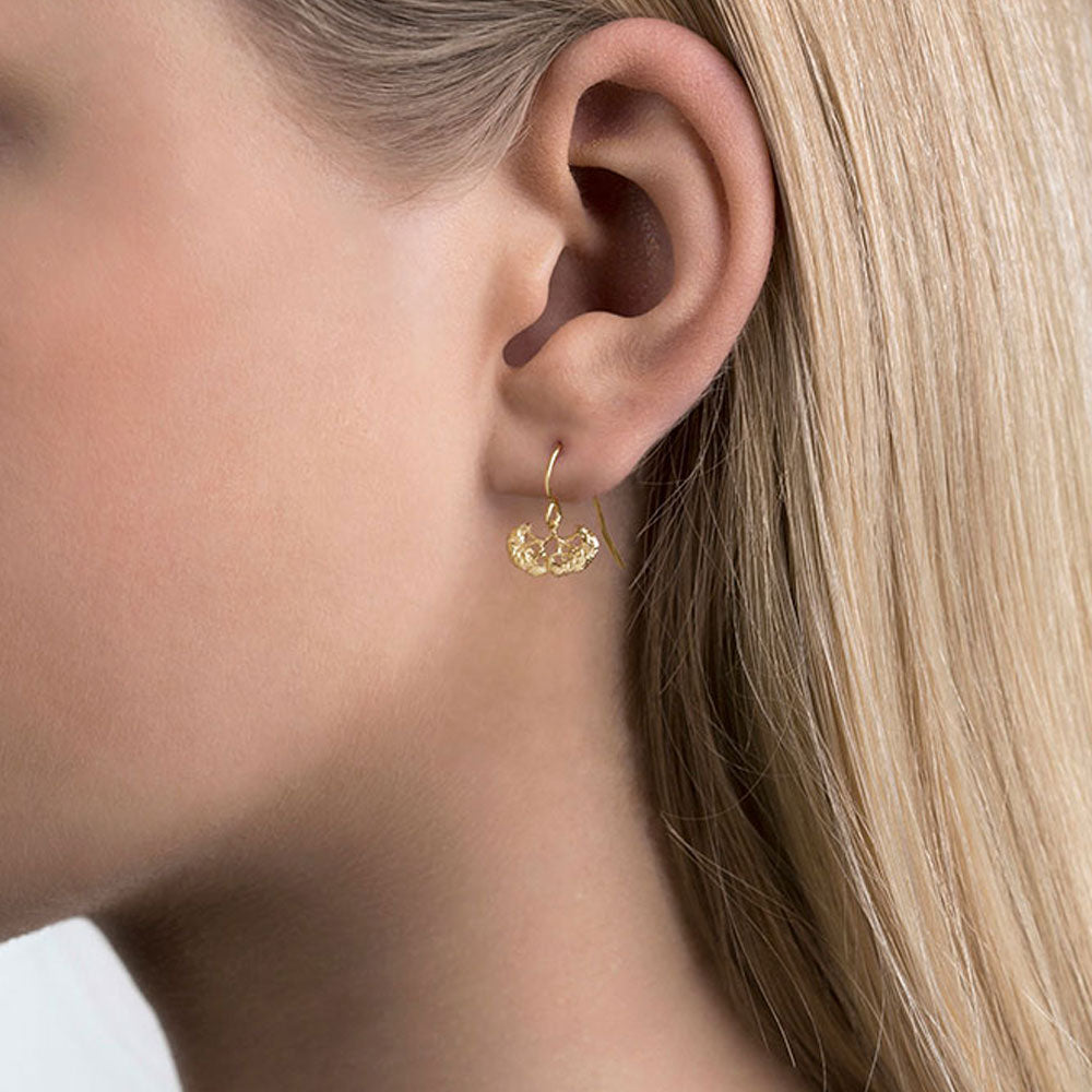 Aurum Erika Gold Plate Earrings