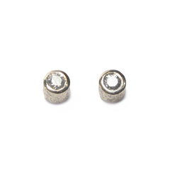 Diana Porter Jewellery contemporary silver diamond stud earrings