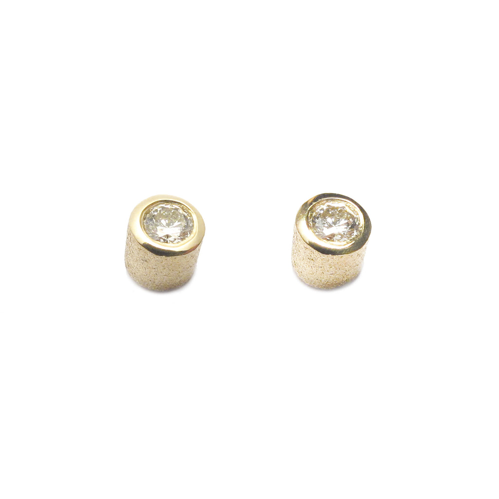 Silver Diamond Frosted Ear Studs
