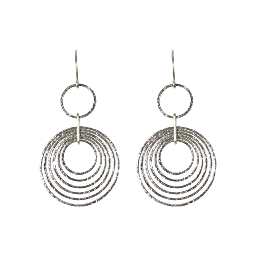 Hannah Felicity Dunne Hammer Hoop Drop Earrings