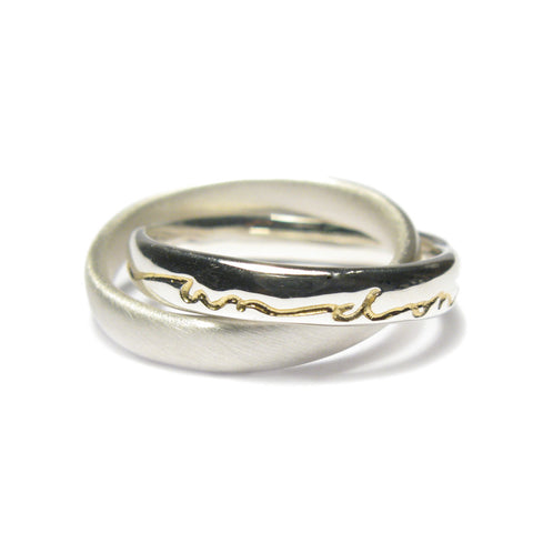 Intertwined Silver 'on and on' Ring