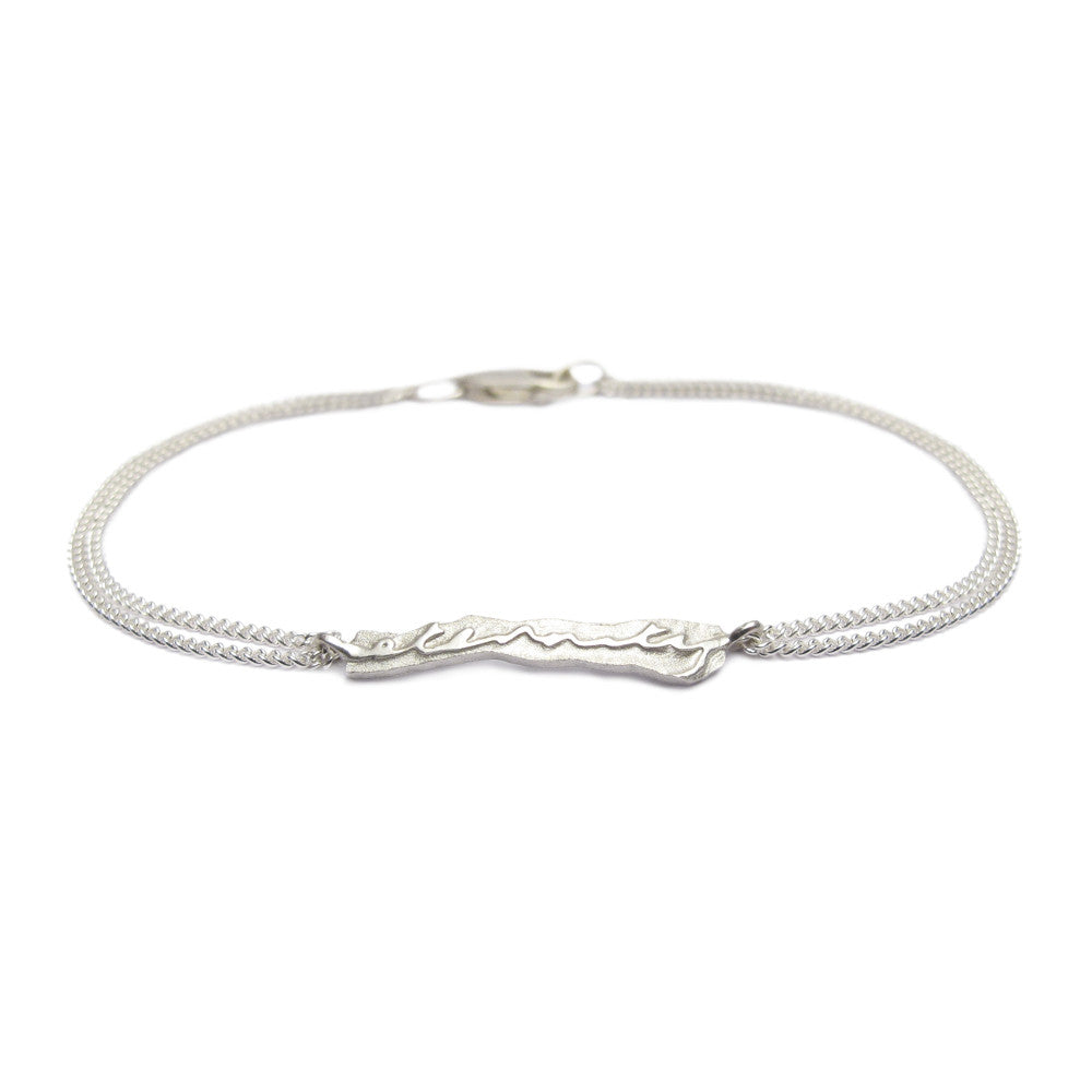 Diana Porter Jewellery contemporary silver eternity bracelet