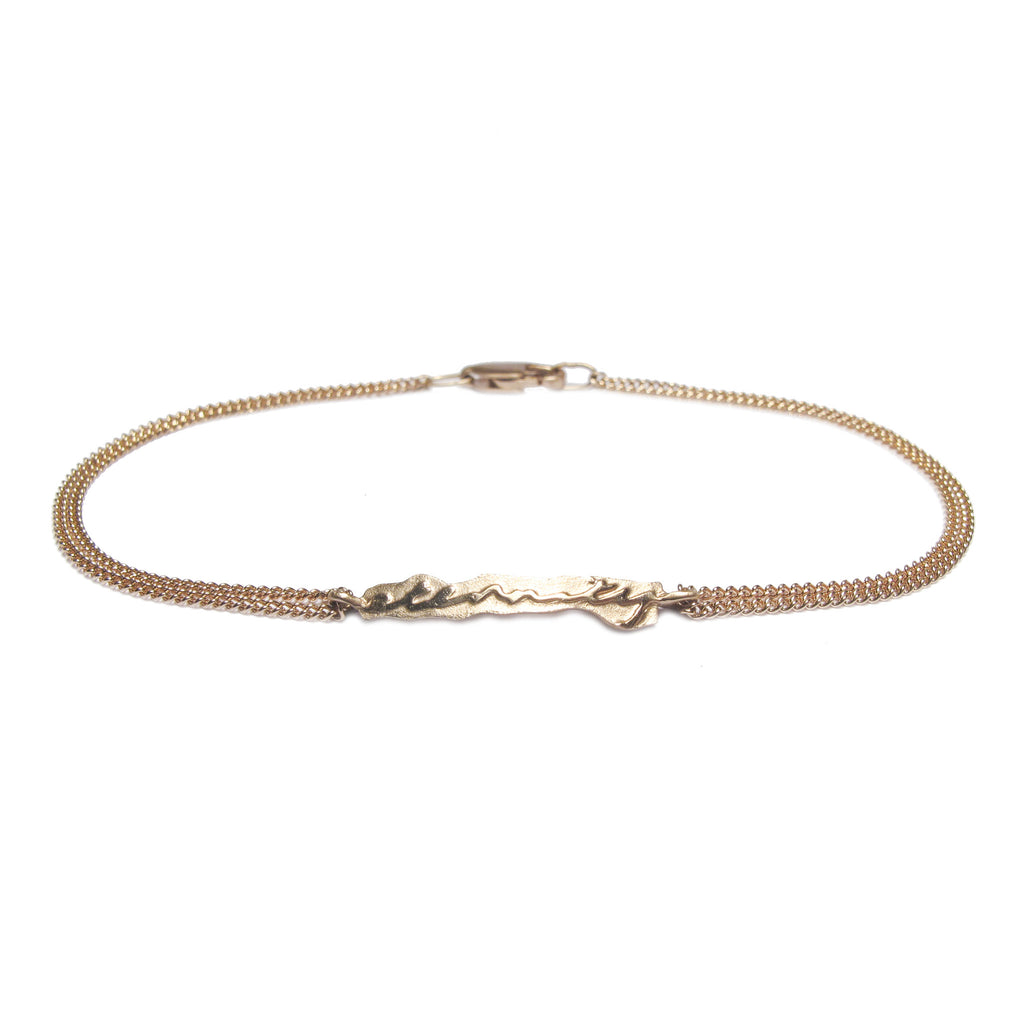 Diana Porter Jewellery contemporary rose gold etched eternity bracelet