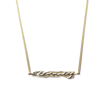 Diana Porter Jewellery contemporary gold etched eternity necklace