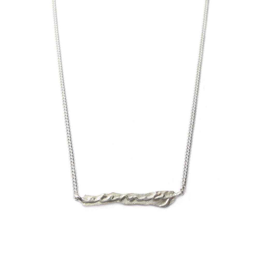 Diana Porter Jewellery contemporary silver etched eternity necklace