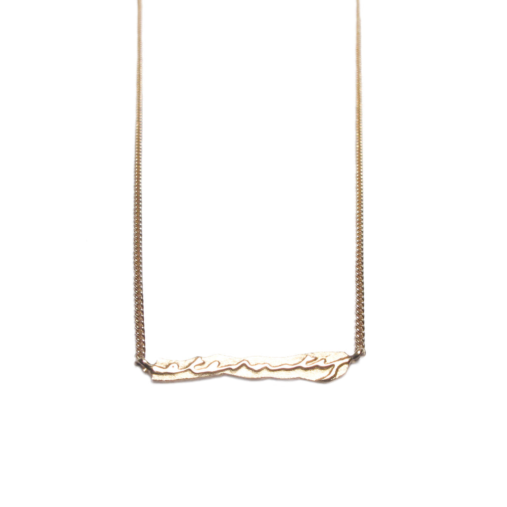 Diana Porter Jewellery contemporary rose gold etched eternity necklace