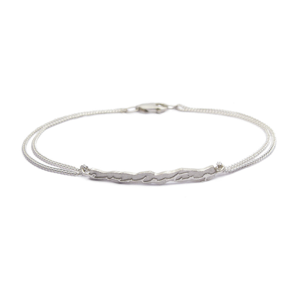 Diana Porter Jewellery contemporary silver etched bracelet