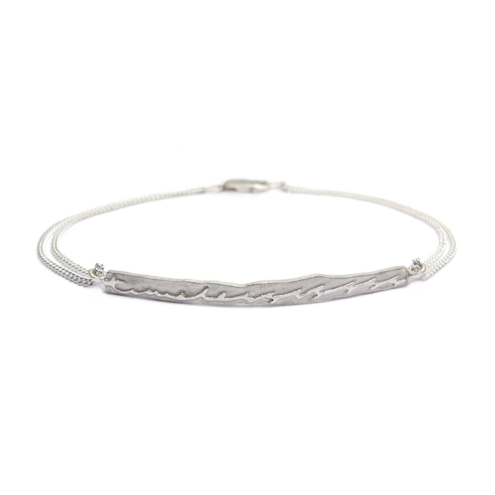 Diana Porter Jewellery contemporary etched silver bracelet