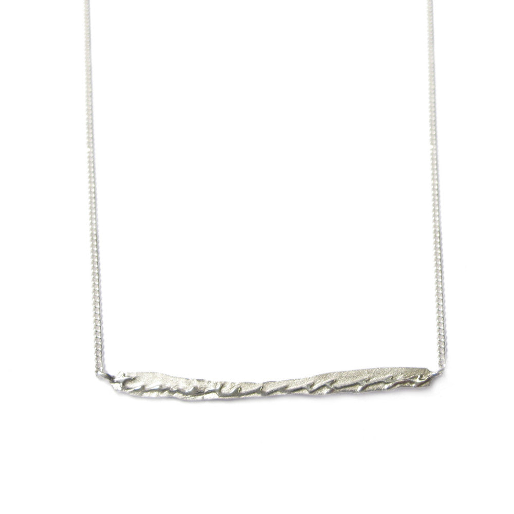 Diana Porter Jewellery contemporary etched silver necklace