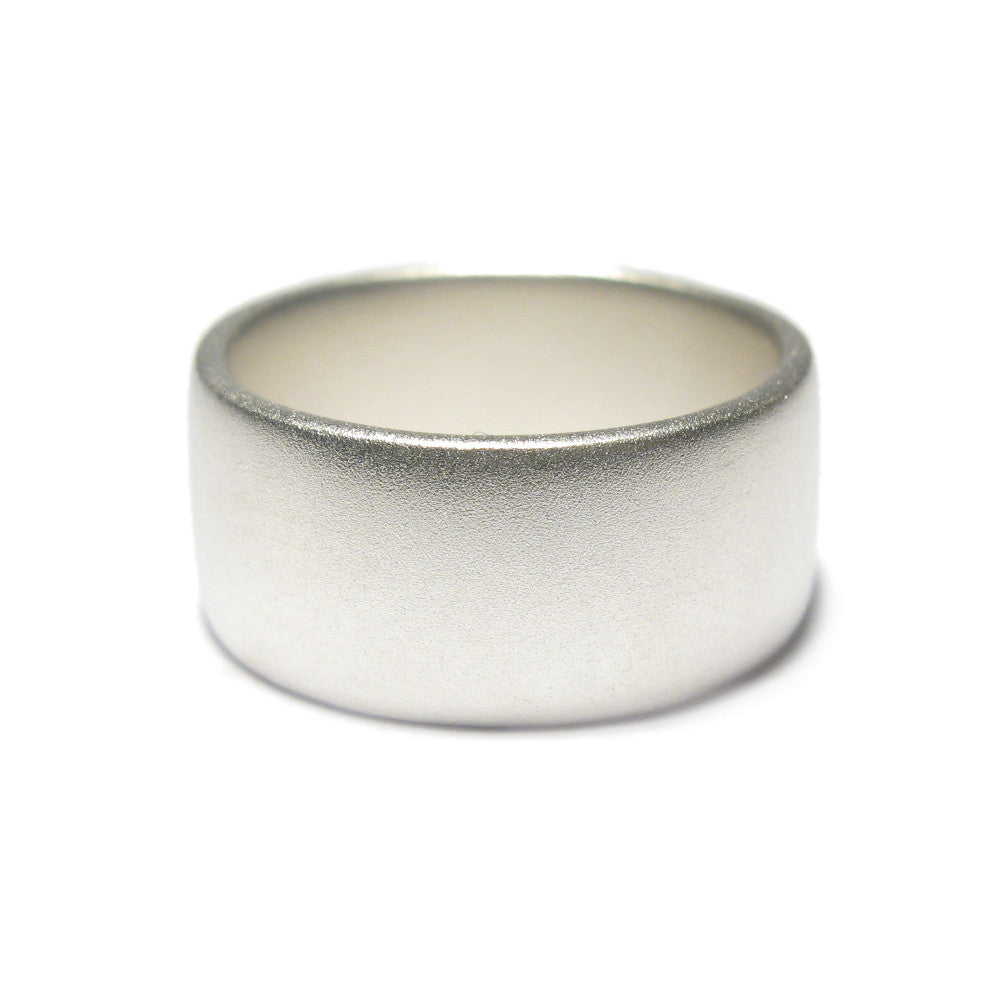 Diana Porter Jewellery contemporary mens silver wedding ring