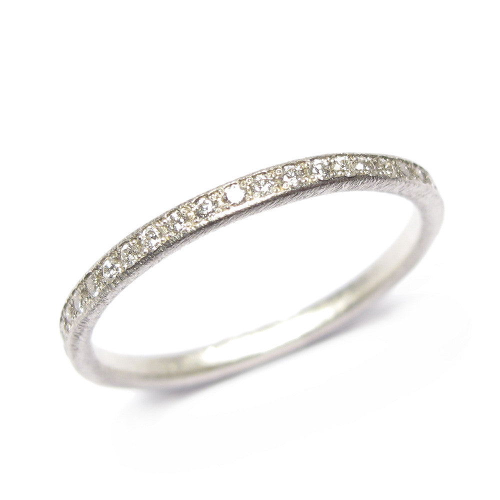 Diana Porter Jewellery contemporary white eternity wedding band